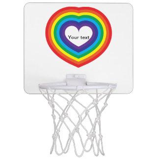 Rainbow heart mini basketball hoop