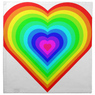 Rainbow Heart Napkin