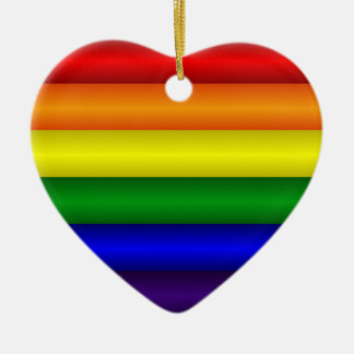 Rainbow Heart Ornament