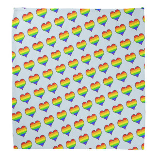 Rainbow Heart Pattern Bandana