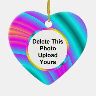 Rainbow Heart Photo Ornament