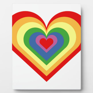 Rainbow Heart Plaque