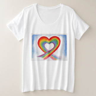 Rainbow Heart Plus size shirt
