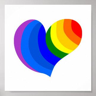 Rainbow Heart Poster