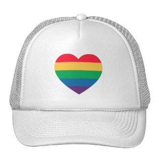 Rainbow Heart Pride Hat