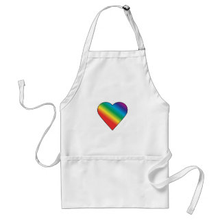Rainbow heart standard apron