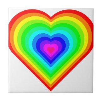 Rainbow Heart Tile