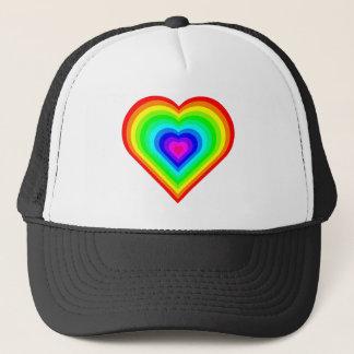 Rainbow Heart Trucker Hat