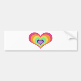 Rainbow Hearts Art Bumper Sticker