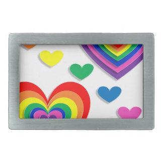 Rainbow Hearts Belt Buckle