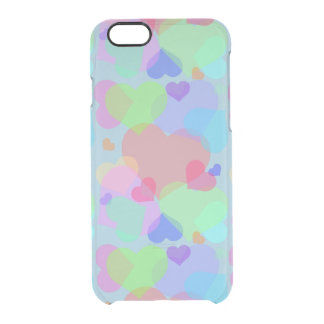 Rainbow Hearts Clear iPhone 6/6S Case