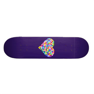 Rainbow Hearts Confetti Skate Board Decks