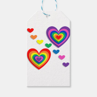 Rainbow Hearts Gift Tags