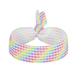 rainbow hearts hair tie