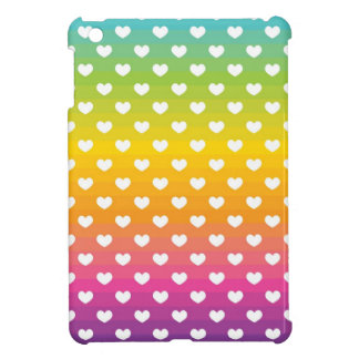Rainbow Hearts iPad Mini Case