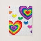 Rainbow Hearts Jigsaw Puzzle