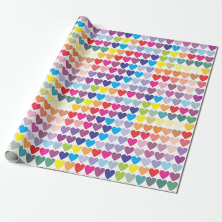 "Rainbow Hearts Matte Wrapping Paper, 30"" x 6' Wrapping Paper"