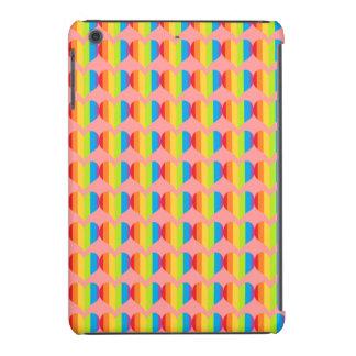 Rainbow hearts pattern on pink iPad mini retina case