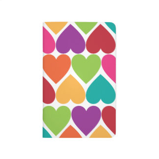 Rainbow Hearts Pocket Journal