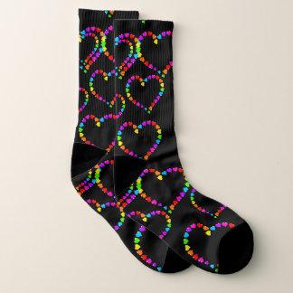 Rainbow Hearts Socks