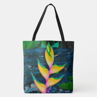 Rainbow Heliconia, Kauai, Hawaiian Beach Bag