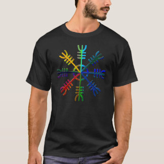 Rainbow Helm of Awe T-Shirt