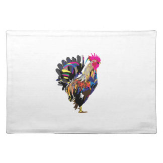 Rainbow Hen Placemat