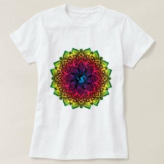 Rainbow Henna Cat Mandala T-Shirt