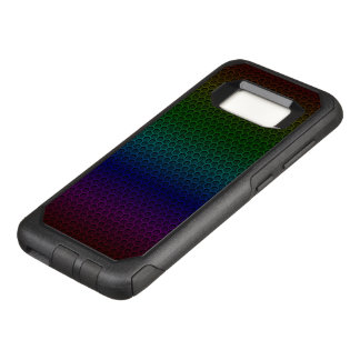 Rainbow Hexagonal Carbon Fiber Honeycomb Mesh OtterBox Commuter Samsung Galaxy S8 Case