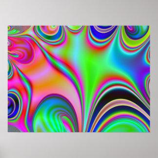 Rainbow Hippie Fractal Poster