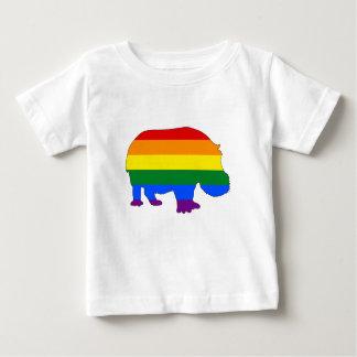 Rainbow Hippopotamus Baby T-Shirt