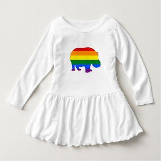 Rainbow Hippopotamus Dress
