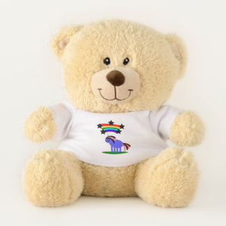 Rainbow Hippy Unicorn Teddy Bear