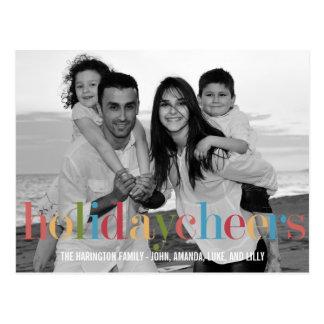 RAINBOW Holiday Photo Cards Postcard