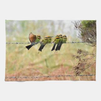 RAINBOW HONEY EATER BIRDS QUEENSLAND AUSTRALIA HAND TOWELS