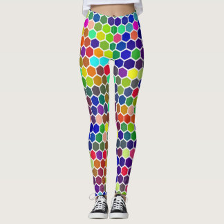 Rainbow Honeycomb Leggings