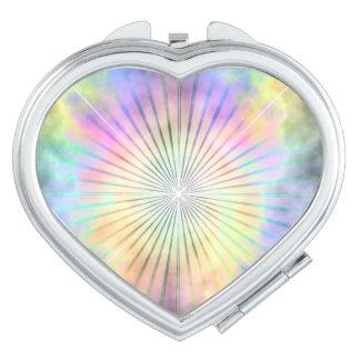 Rainbow Horizon Star Burst Ray Compact Mirror
