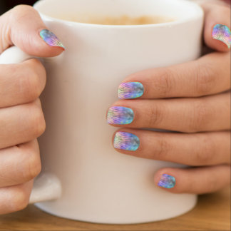 Rainbow Horizon Star Burst Ray Fingernail Decals