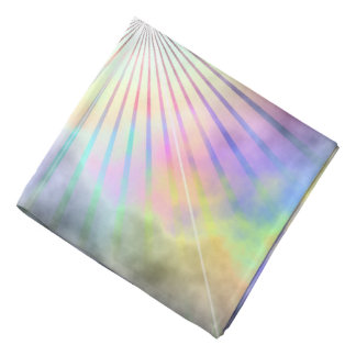 Rainbow Horizon Star Burst Ray Kerchief