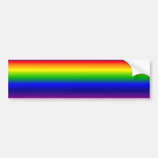 Rainbow Horizontal Bumper Sticker