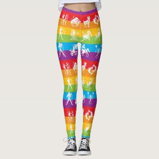 Rainbow Horoscope Yoga Gym Exercise Leggings Pants
