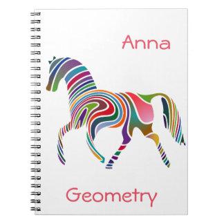 Rainbow horse design note books