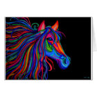 rainbow horse head card