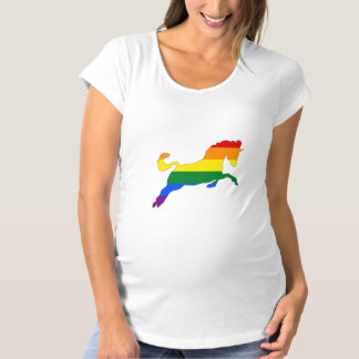 Rainbow Horse Maternity T-Shirt