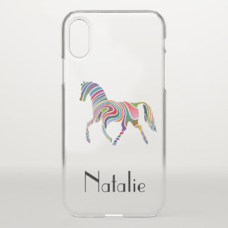 Rainbow horse  - your name iPhone x case