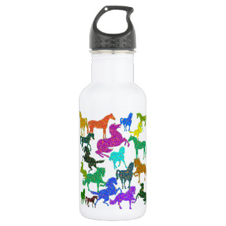 "Rainbow Horses - ""Dotty about Horses!"" 532 Ml Water Bottle"