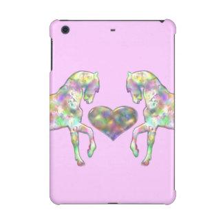 Rainbow Horses Pink iPad Mini Case