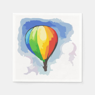 Rainbow Hot Air Balloon Paper Napkins