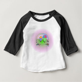 Rainbow Hot Air Balloons Baby T-Shirt