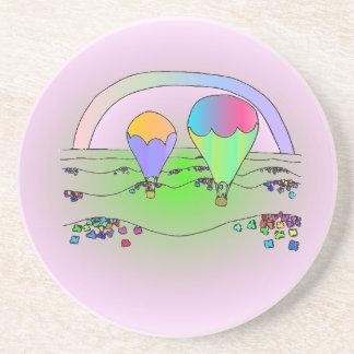 Rainbow Hot Air Balloons Coaster